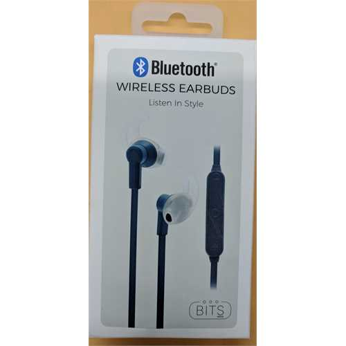 Refurbished BITS Made Bluetooth Wireless Earbuds - Blue