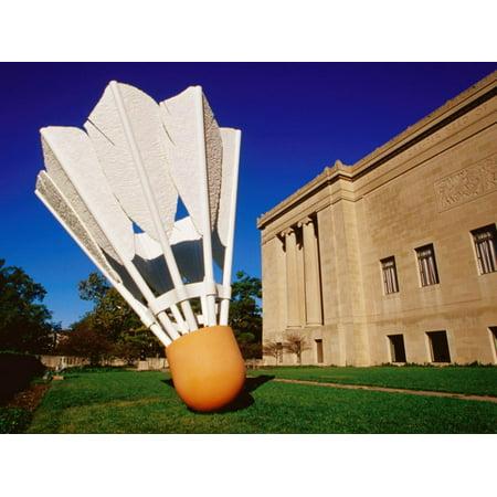 Giant Shuttlecock Sculpture at Nelson-Atkins Museum of Art, Kansas City, Missouri Print Wall Art By Richard Cummins - Kansas City Museum Halloween