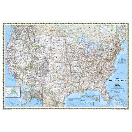 National Geographic Maps United States Classic Wall Map