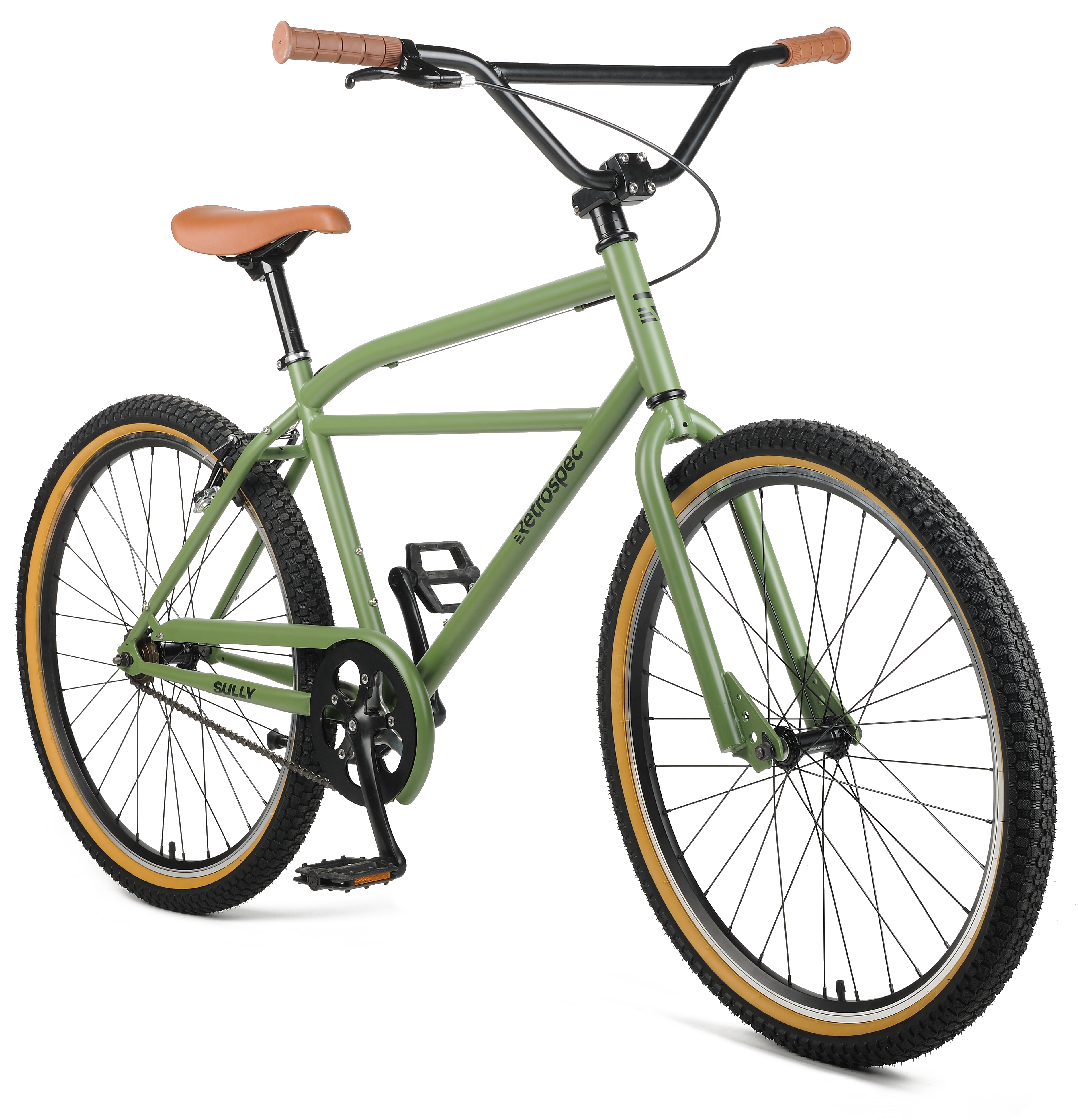 Retrospec Sully Klunker Cruiser Bike with Handbuilt Hi-Tensile Steel Frame and Kenda K-Rad BMX Tires