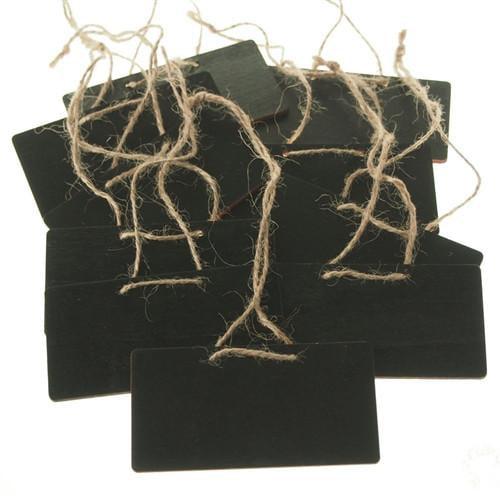 Chalkboard Wooden Rectangular Tags, 3-3/4-inch, 10-Piece