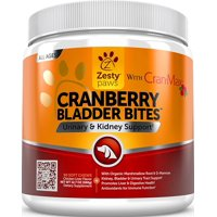 Zesty Paws Cranberry Bladder Bites Urinary Tract Support Chews for Dogs, 90 Soft Chews
