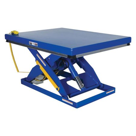 Electric Hydraulic Scissor Table (Vestil Manufacturing EHLT-2448-2-43-PSS 24 x 48 in. Electric Hydraulic Partially Stainless Steel Scissor Lift Table, 2000 lbs)