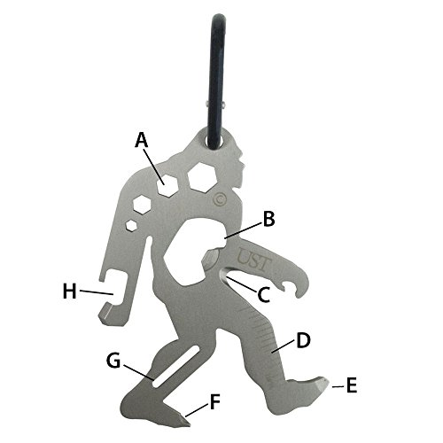 TOOL A LONG Sasquatch Multi-Tool Stainless Black One Size