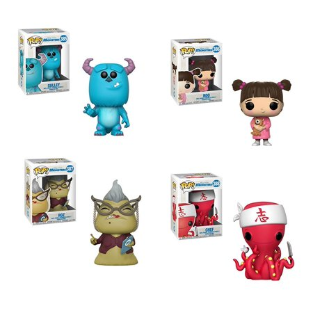 Funko Pop! Disney: Monsters Inc - Sully, Boo, Roz and Chef