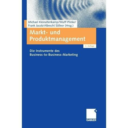 Markt- und Produktmanagement: Die Instrumente des Business-to-Business-Marketing (German Edition) - image 1 de 1