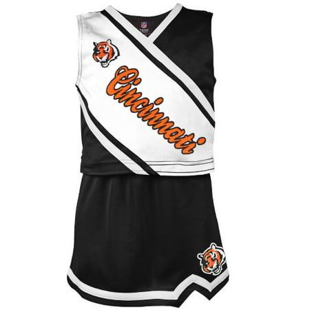Cincinnati Bengals Girls Toddler 2-Piece Cheerleader Set - - Black Girl Cheerleader