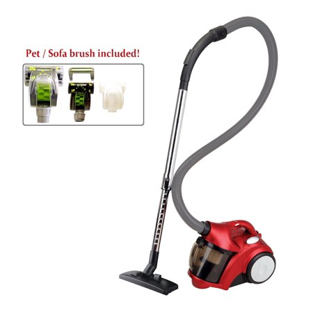 Ovente St2510r Compact Cyclonic Bagless Canister Vacuum