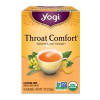 Yogi Tea, Throat Comfort Herbal Tea, Tea Bags, 16 Ct