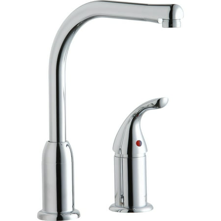 Elkay Everyday Kitchen Deck Mount Faucet with Remote Lever Handle Chrome - Chrome Deck Mount Bath Faucet