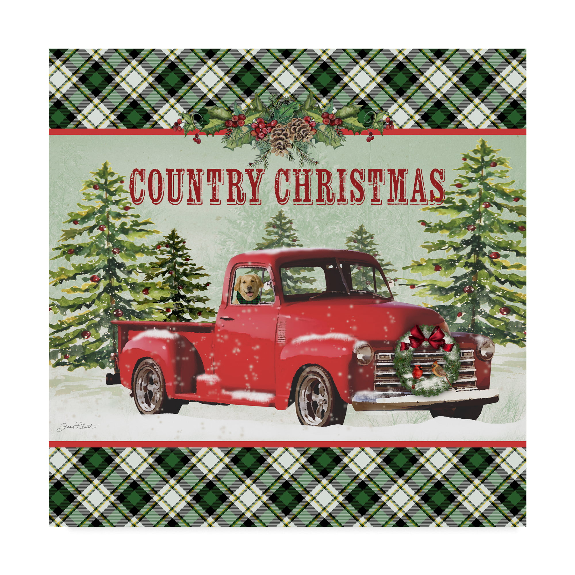 Trademark Fine Art 'Country Christmas Truck' Canvas Art by ...