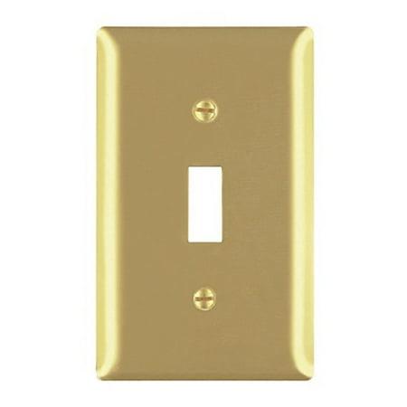 Pass and Seymour SB1 Satin Brass Single Gang Toggle Light Switch Wall Plate Brass Double Toggle Wall Plate