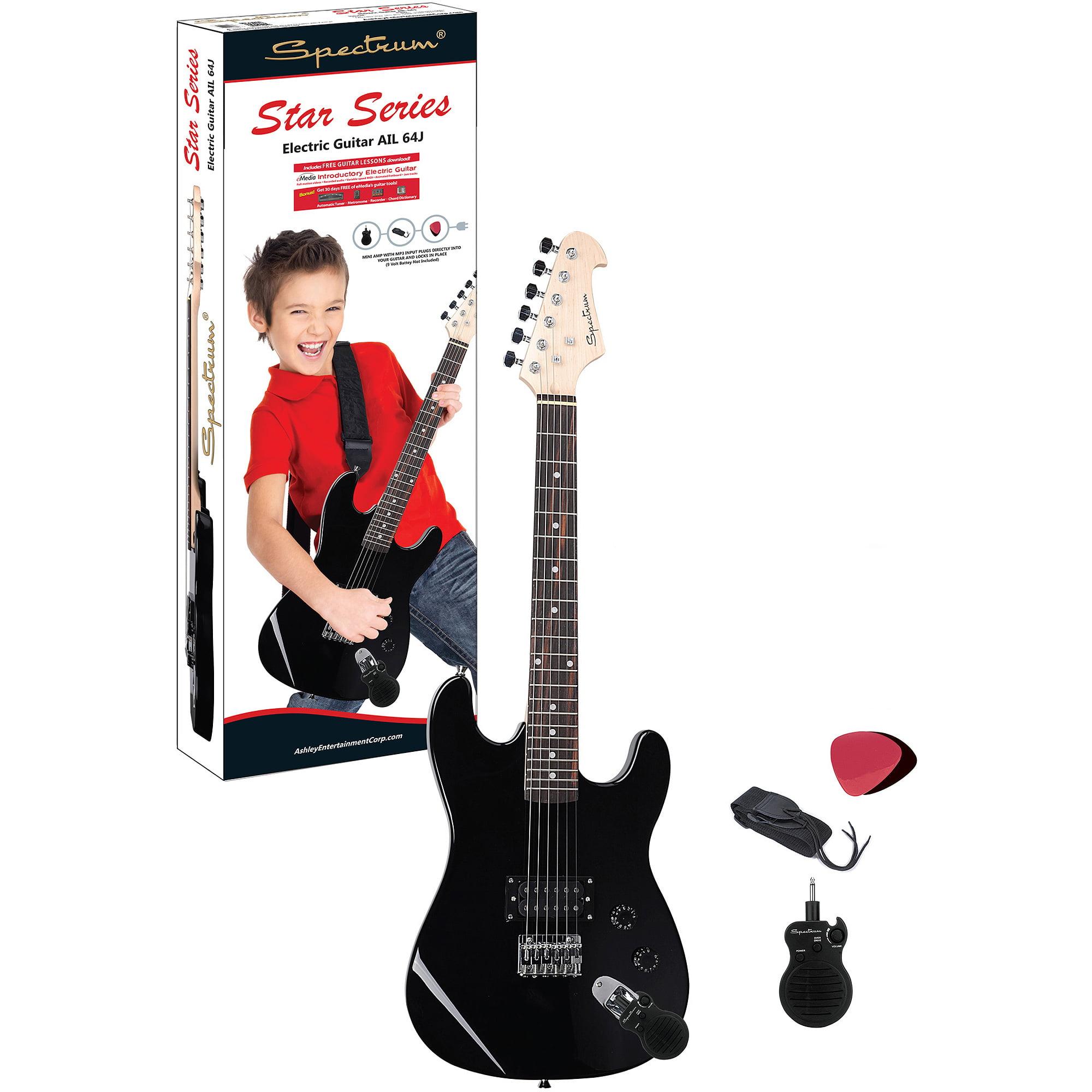 Spectrum AIL 64J 34 Junior Size Electric Guitar With Mini Amp