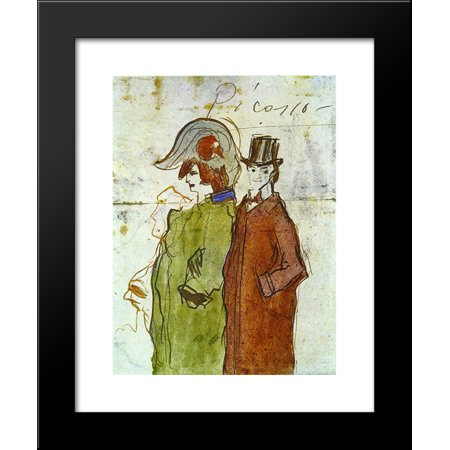 Picasso With Partner 20X24 Framed Art Print By Picasso  Pablo