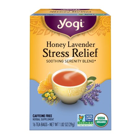 (6 Boxes) Yogi Tea, Honey Lavender Stress Relief Tea, Tea Bags, 16 Ct, 1.02 (Yogi Berra Photograph)