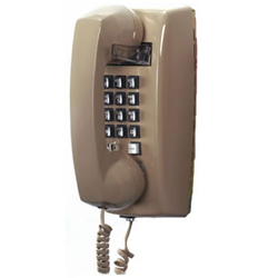 Cortelco 255444VBA20M Basic Single-Line Wall Telephone with Volume Control in Ash