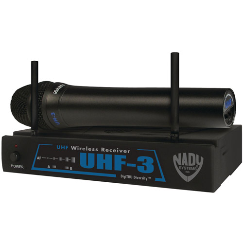 Nady UHF-3 HT SYS MU2 480.55 Wireless Handheld Microphone System by Nady