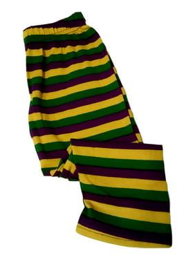 Mardi Gras Leggings 18 - 24 Mth Stripe Purple Green Yellow Soft Knit