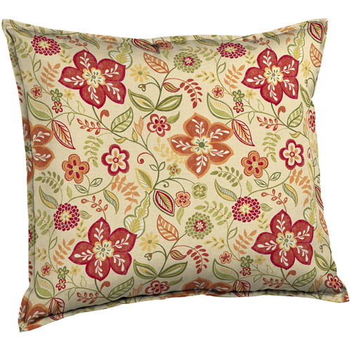 Better Homes and Gardens Deep Seat Pillow Back Outdoor Cushion, Pure Floral