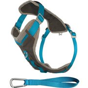 Kurgo Journey Dog Harness, Charcoal & Coastal Blue, Small