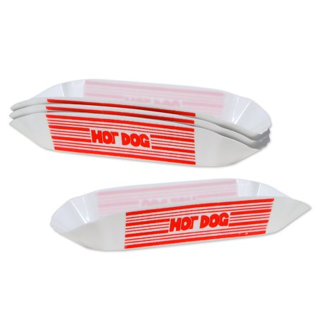 Hot Dog Holders (Club Pack of 48 Circus Themed Red and White Plastic Hot Dog Holders)