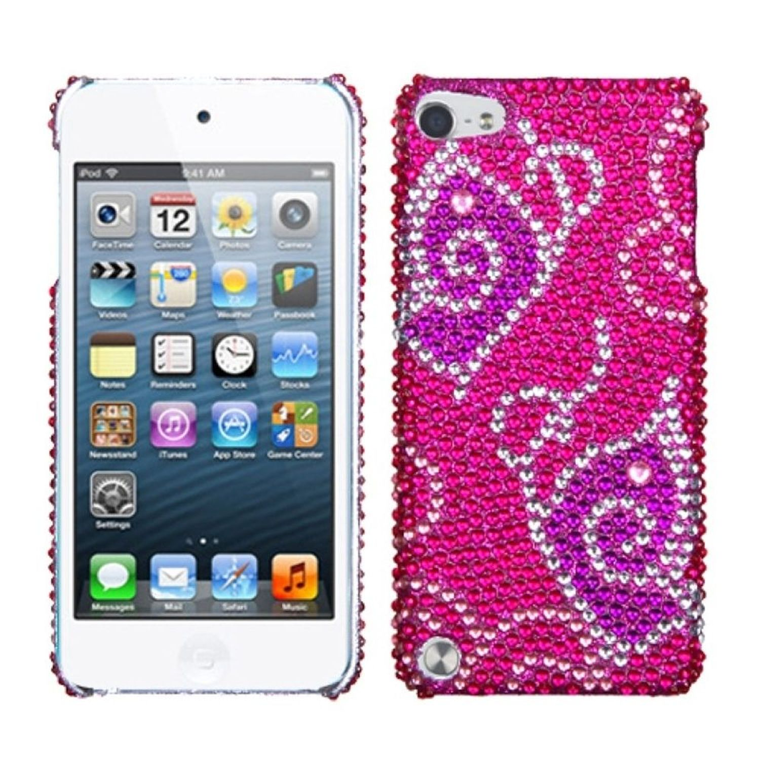 Insten Tattoo Butterfly Diamante Back Protector Cover Case For iPod Touch 6 6th 5 5th Gen
