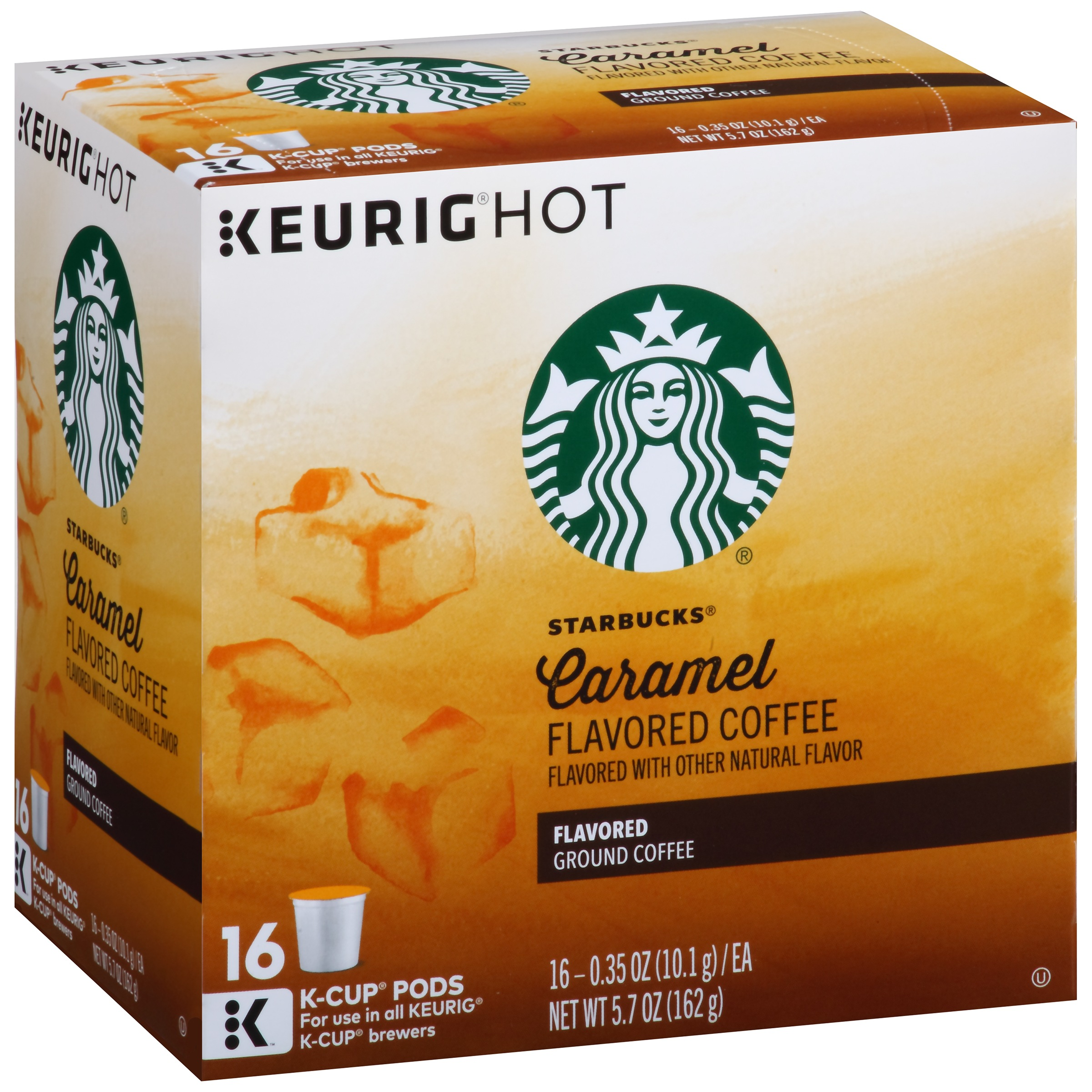 Starbucks Caramel Flavored Coffee K-Cup Pods 16 ct Box by STARBUCKS COFFEE COMPANY