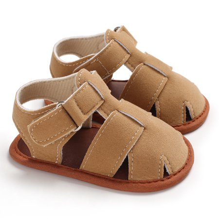 Infant Toddler Baby Boy Girl Summer Sandals Casual Soft Crib Shoes Prewalker Sandles 0-18M Khaki 11cm - Khaki Mens Sandals