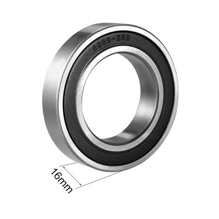 Deep Groove Ball Bearing 6009-2RS Double Sealed 45mmx75mmx16mm Chrome Steel - image 2 of 4