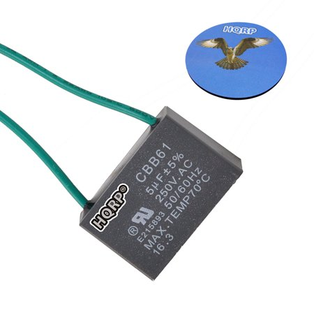 hqrp capacitor for hampton bay ceiling fan cbb61 5uf 2. Black Bedroom Furniture Sets. Home Design Ideas