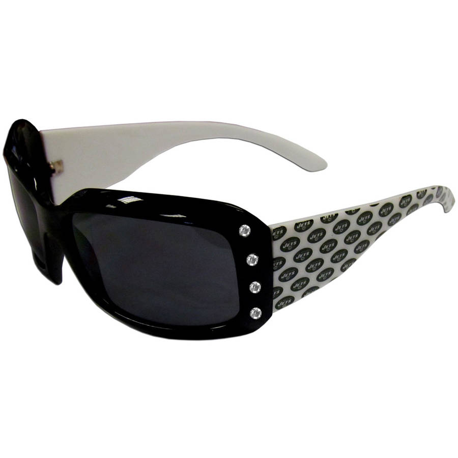 NFL New York Jets Women's Designer Sunglasses with Rhinestones