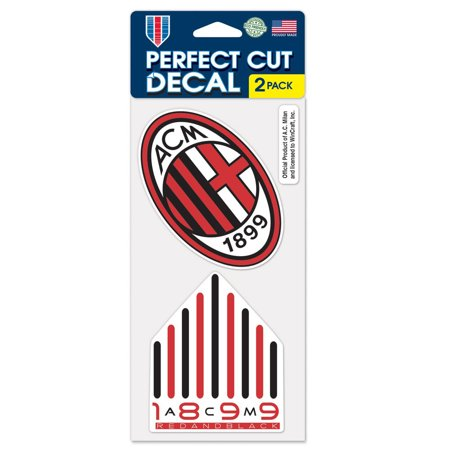 "AC Milan 2-Pack 4"" x 8"" Perfect Cut Decal - No Size"