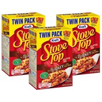 (3 Pack) Kraft Stove Top Stuffing Mix for Turkey, 12 oz Box