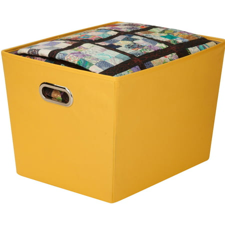 honey can do large decorative storage bin with handles - Decorative Storage