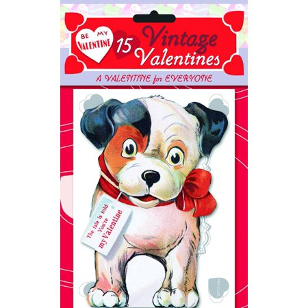 15 Vintage Valentines: A Valentine for Everyone : 15 Die-Cut Cards in Bag with Decorated Envelopes