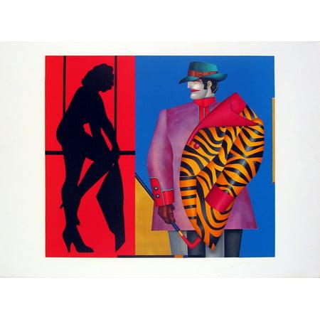Richard Lindner Purple Jacket 1975 Lithograph