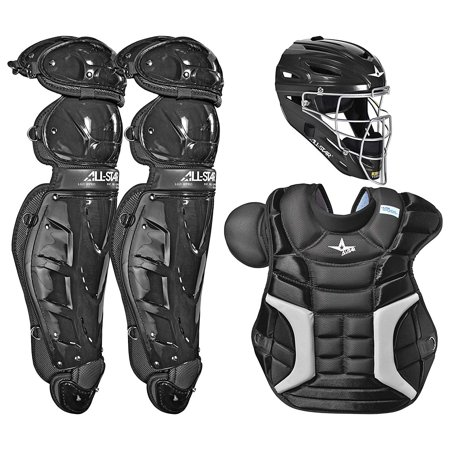 All-Star Sports Adult Classic Plastic Protective Baseball Catchers Set, Black