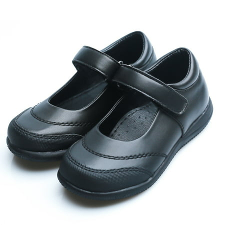 Happystep Toddler Little Girl Mary Jane School Uniform Dress Black Shoes, 1 Pair