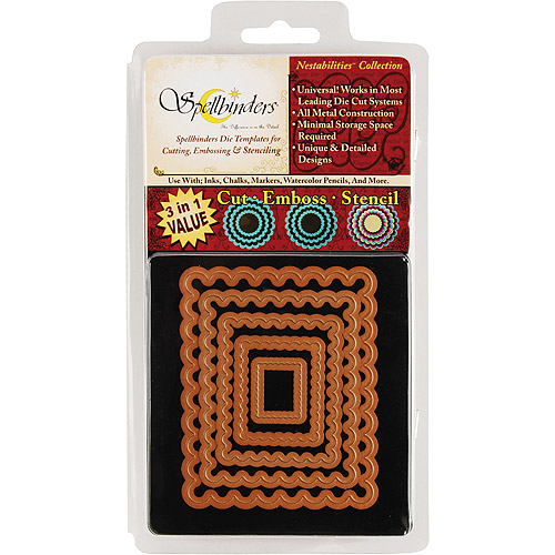 Spellbinders Nestabilities Dies-Classic Scallop Rectangle, Small - 5