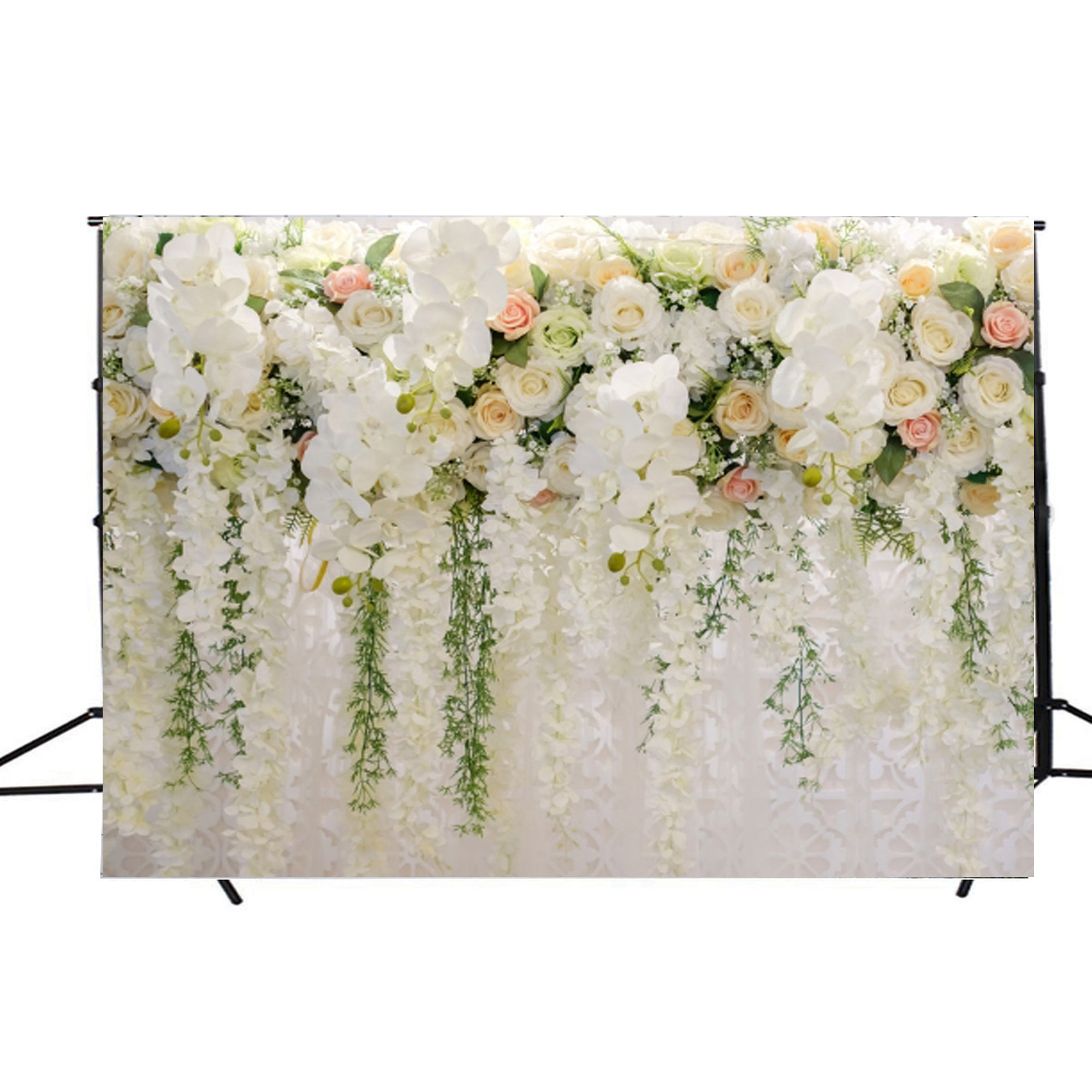 8x8FT Vinyl Photo Backdrops,Umbrella,Floral Feminine Set Photoshoot Props Photo Background Studio Prop