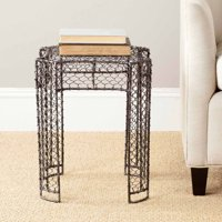 Safavieh Nadia Woven Wire Stool, Brown with Patina