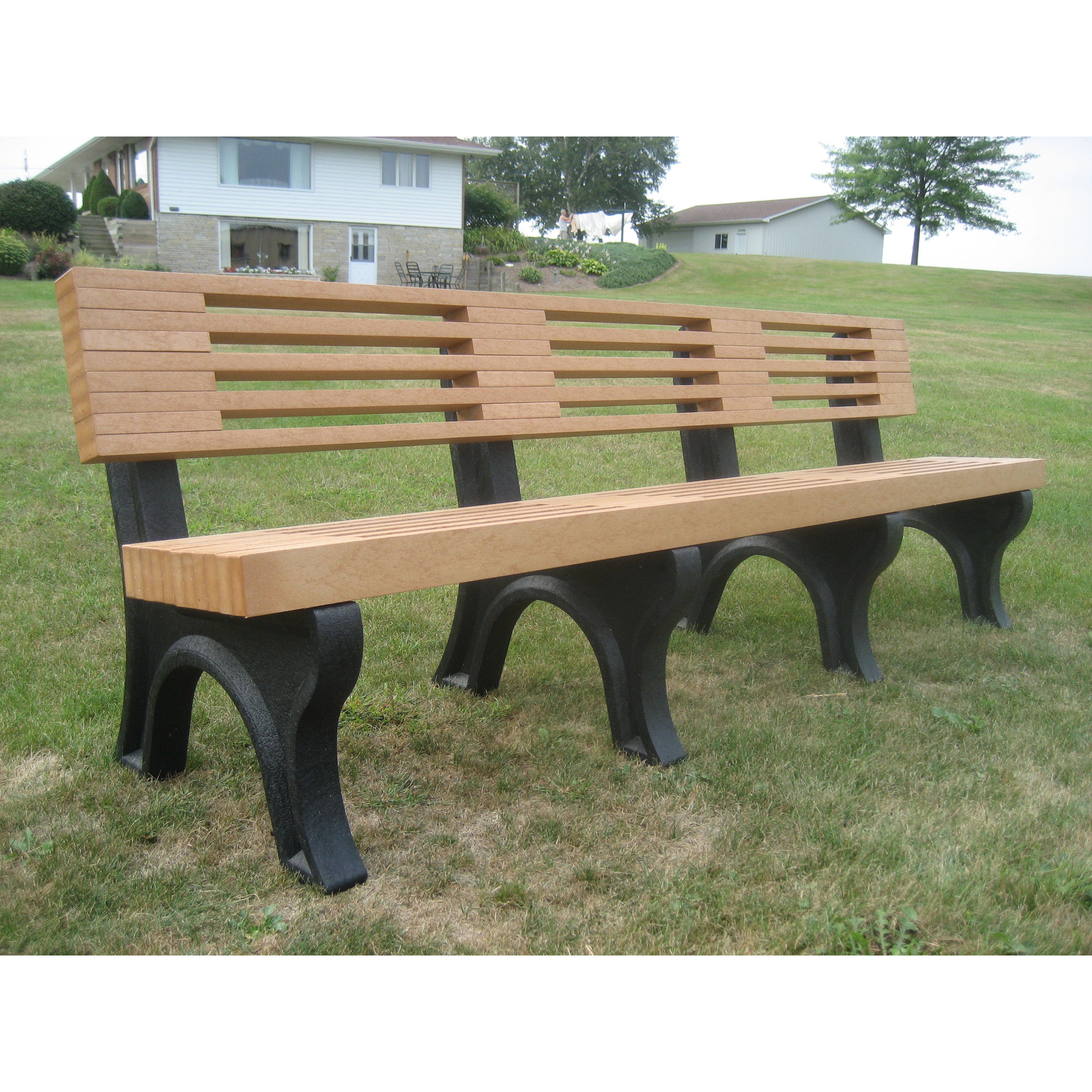 Polly Products Elite Recycled Plastic Backed Bench