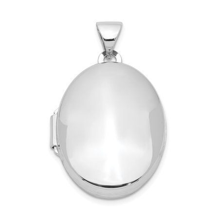 925 Sterling Silver 21mm 2 Frame Oval Photo Pendant Charm Locket Chain Necklace That Holds Pictures For - Engraved Oval Locket Pendant