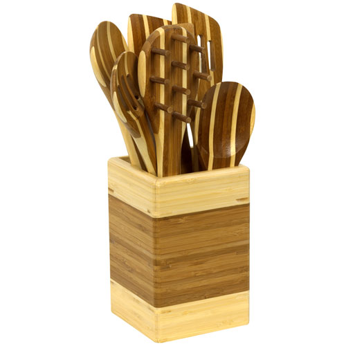 EKCO PAO! 8-Piece Bamboo Kitchen Tool Set