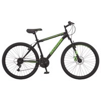 "Mongoose Excursion Mountain Bike, Men's, 26"", Black/Green"