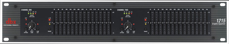 dbx 1215 Dual Channel 15-Band Equalizer by