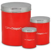 Ragalta RCA-074-BR 3 Pieces Bread Bin and Canister Set - Nested