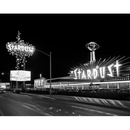 Casino Desert Scene (1960s Night Scene Of The Stardust Casino Las Vegas Nevada Usa Poster Print By Vintage)