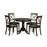 East West Furniture ANBO5-CAP-LC 5 Piece Kitchen Nook Dining Set-Kitchen Table Plus 4 Chairs For Dining Room