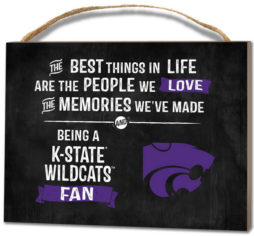 KH Sports Kansas State Wildcats Small Plaque - Best Things